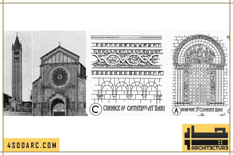 دیوارهای معماری رمانسک در ایتالیا