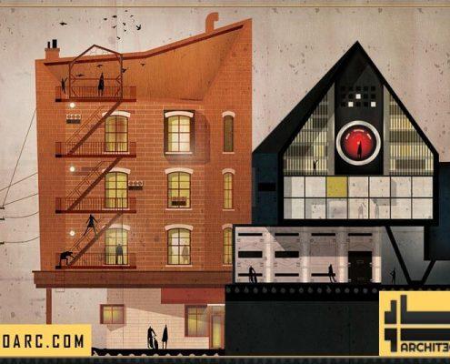 کتاب نقش رابطه معماری و سینما